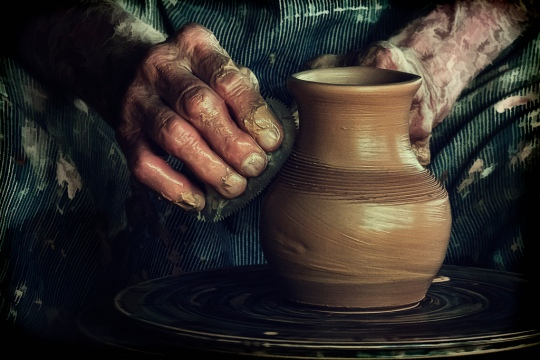 Potter-molding-clay